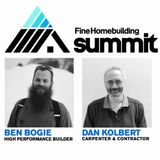 Ben Bogie and Dan Kolbert on the front of a presentation slide