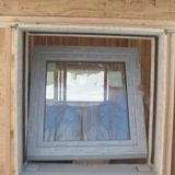 A window installation in a high-performance build