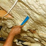 old spray foam insulation