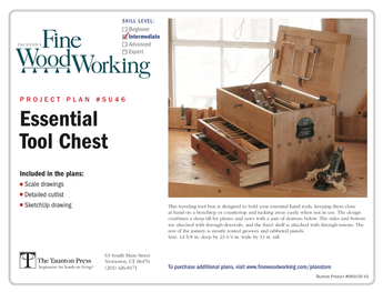 Sample cover of a digital woodworking plan