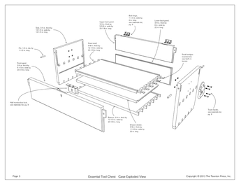 Sample page from a digital woodworking plan depicting an alternate view of a toolbox